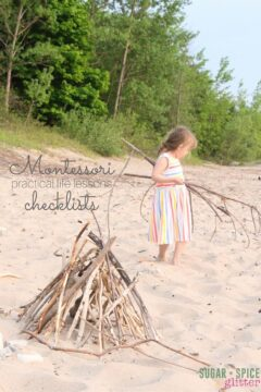 Montessori Pracitcal Life Checklist – Printable