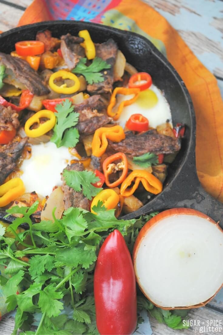 Santa Fe Flank Steak Skillet