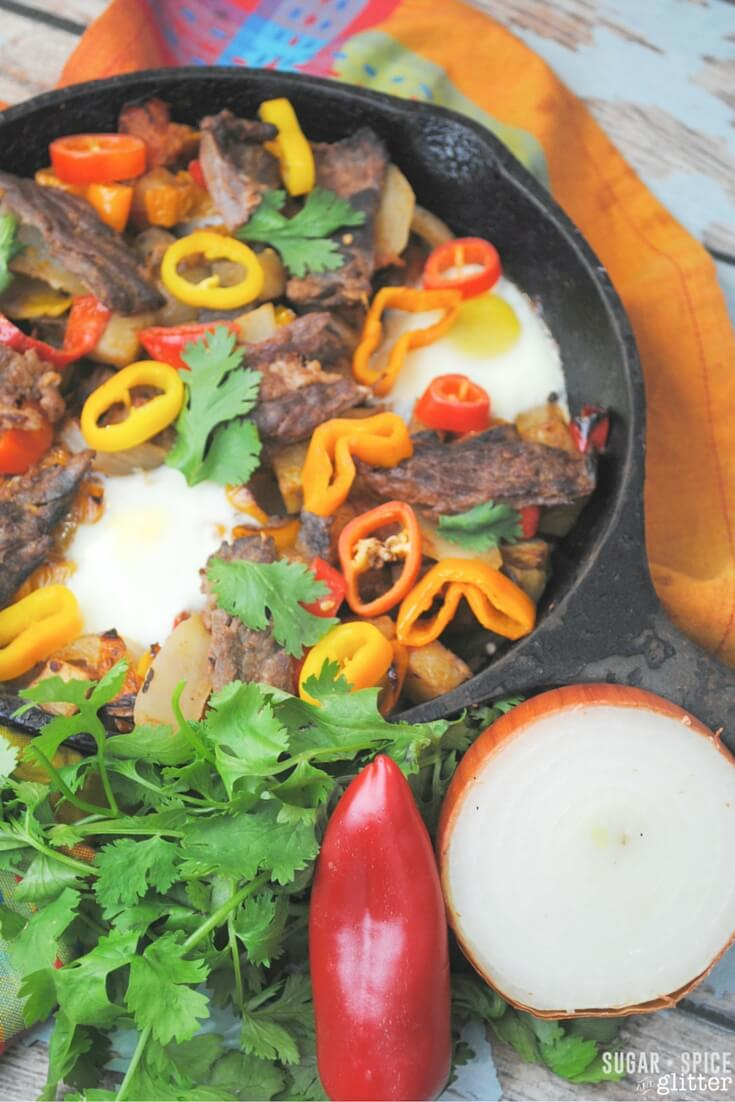 carne asada steak skillet