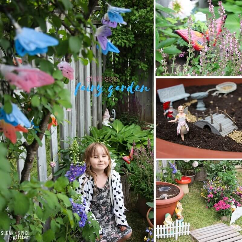 child-size fairy garden