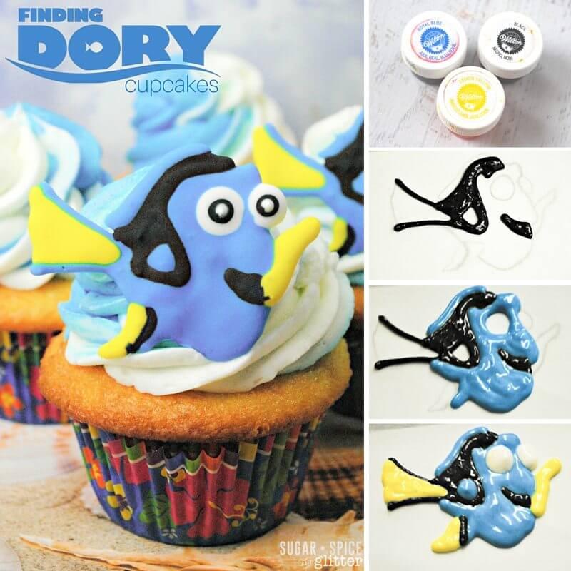 dory disney cupcakes