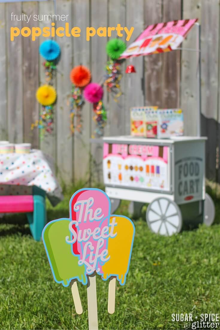 The perfect easy summer party theme - a popsicle party!