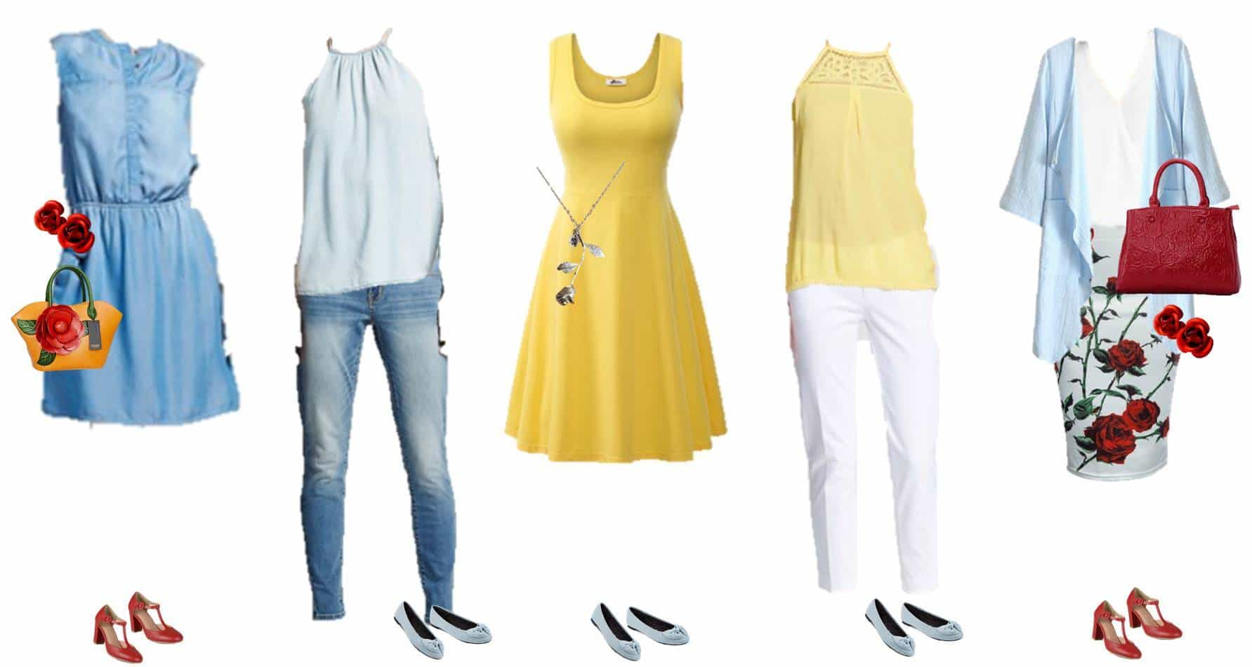 7.26 Mix & Match Fashion - Inspired by Belle 1-5