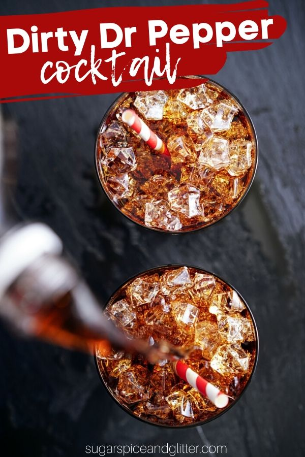 A delicious Amaretto and Fireball cocktail recipe that tastes just like Dr Pepper (but doesn't contain any Dr Pepper at all!) The perfect BBQ cocktail recipe