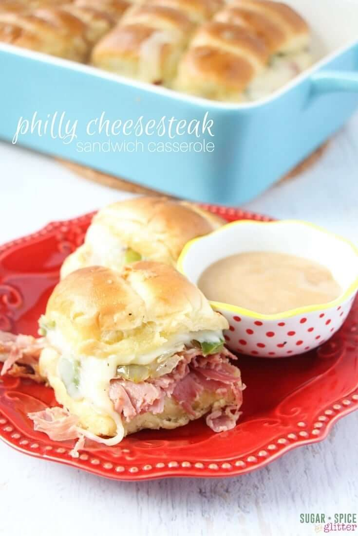Philly Cheesesteak Sandwich Casserole