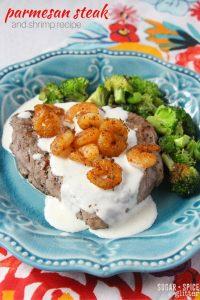 Parmesan Steak and shrimp