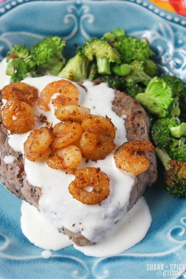 parm steak and shrimp recipe