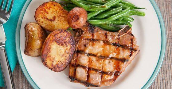 peach glazed pork chops recipe