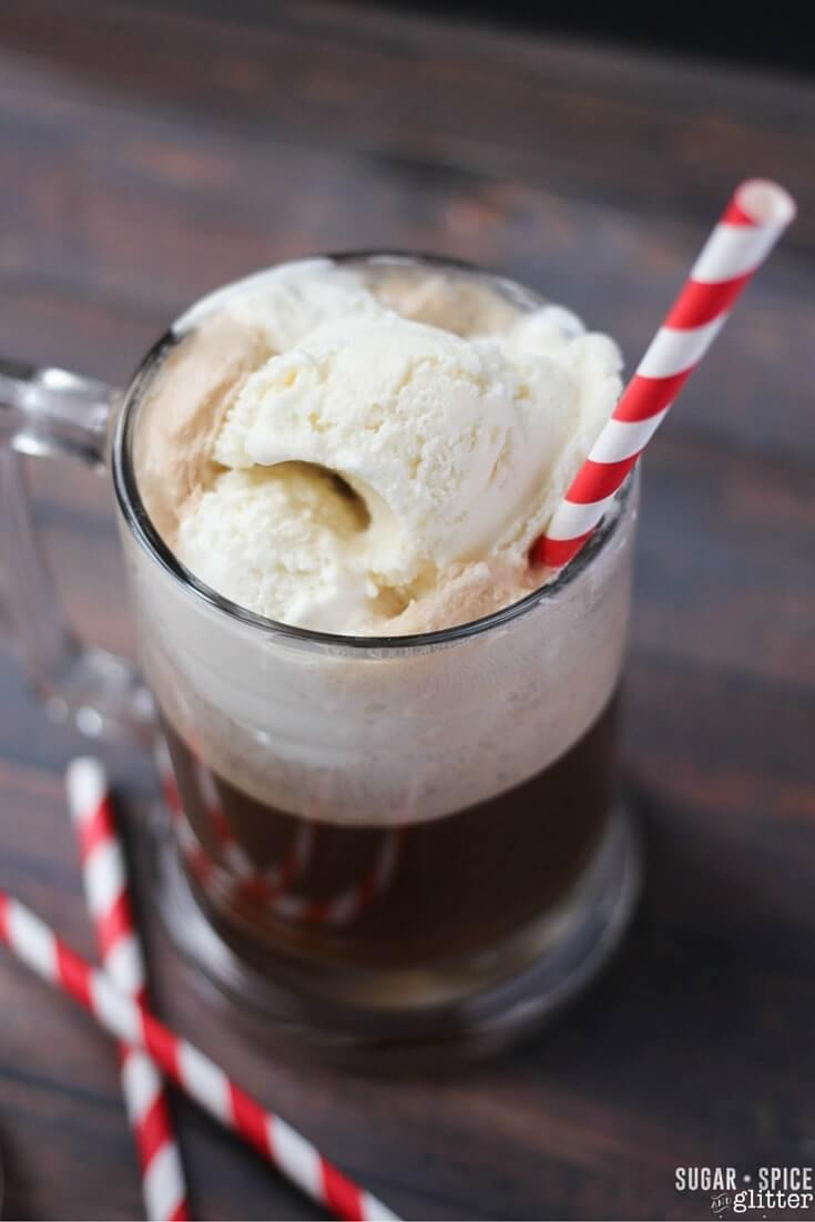 Grown-up Root beer float made with butterscotch schnapps - perfection.