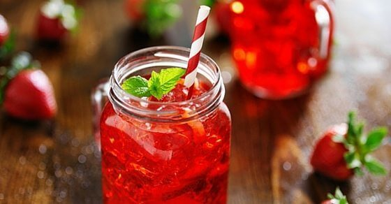 strawberry mint cocktail fb