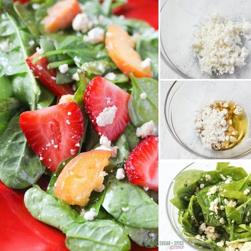 How to make a spinach summer salad