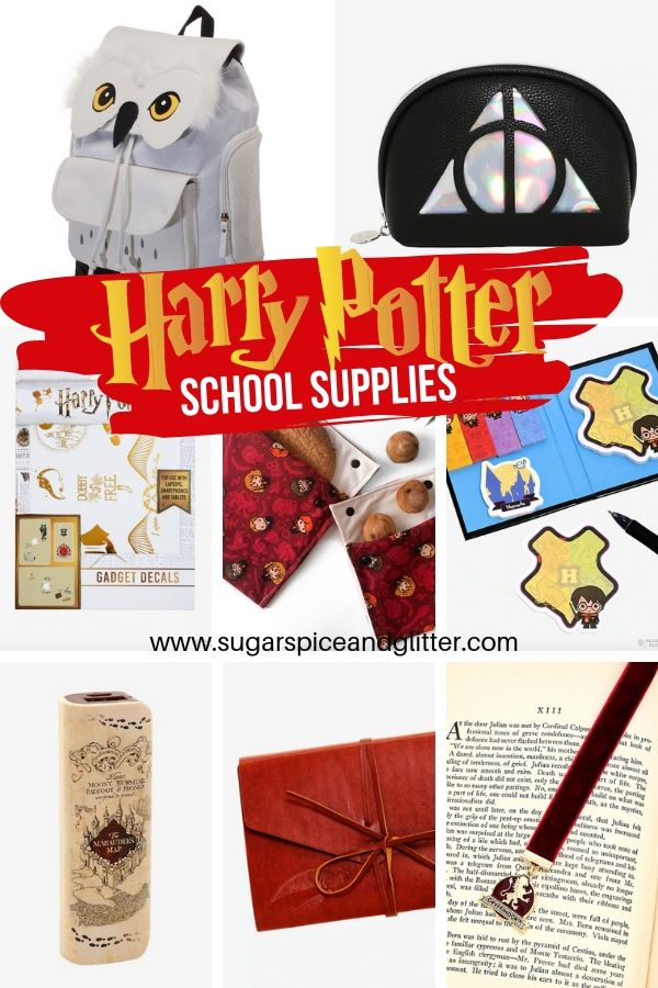 Everything you need for heading to Hogwarts - or muggle school! A great mix of DIY Harry Potter school supplies and store-bought options, too