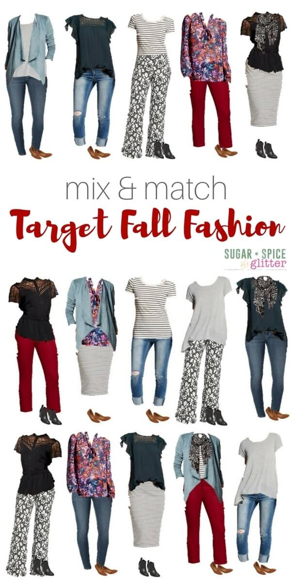 Get ready for fall with this fun collection of fall fashions from target - three outfit ideas for each item.