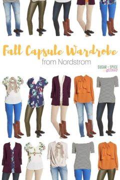 Nordstrom Fall Capsule Wardrobe Board