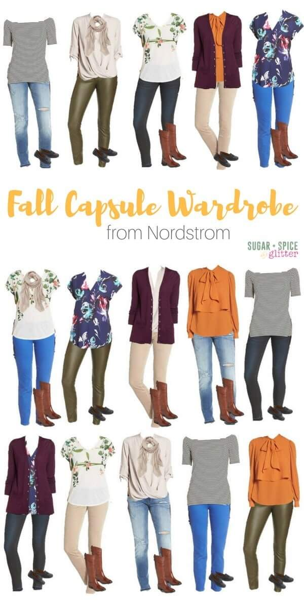 d3bcf6c3f52 Fall Capsule Wardrobe form Nordstrom - this blogger has put together mix    match options to