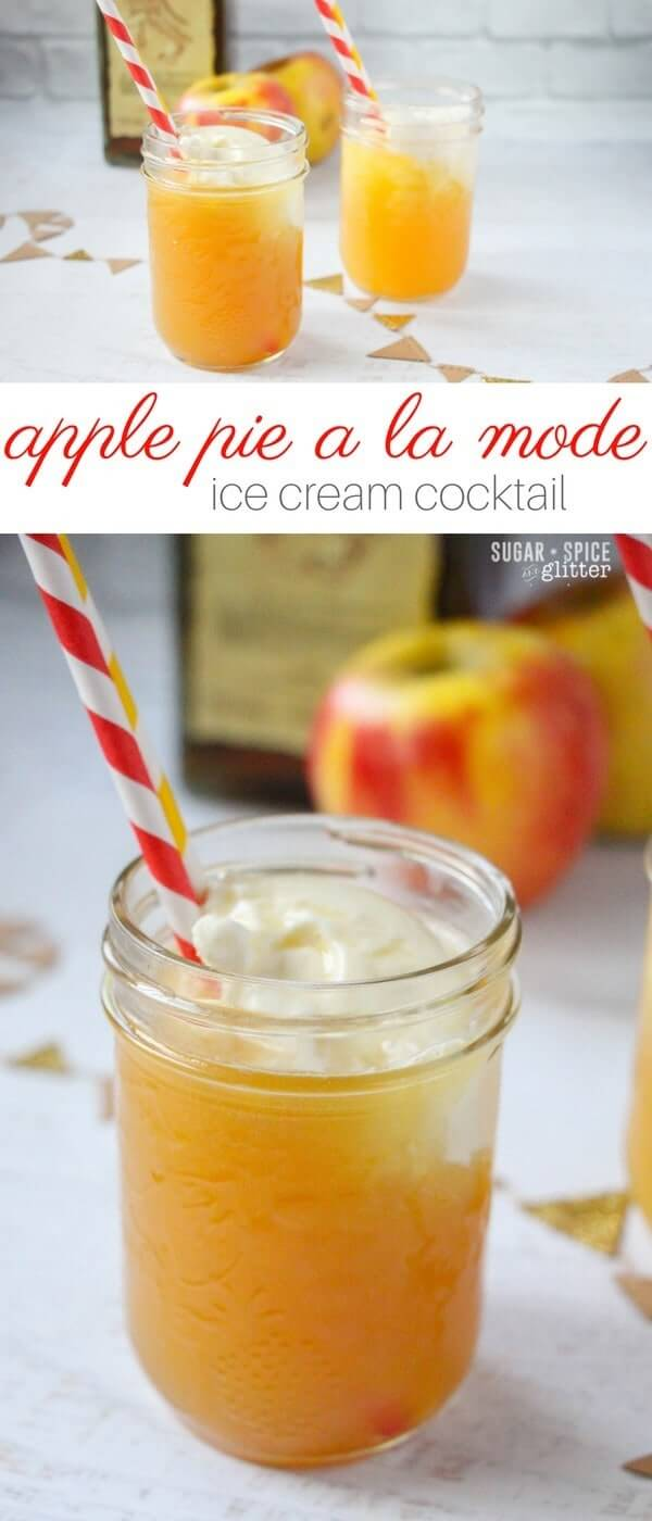 The best fall cocktail recipe, this apple pie a la mode is the perfect way to indulge after a crisp autumn day. It tastes like caramelized, baked apple pie topped with fresh, creamy ice cream - amazing!