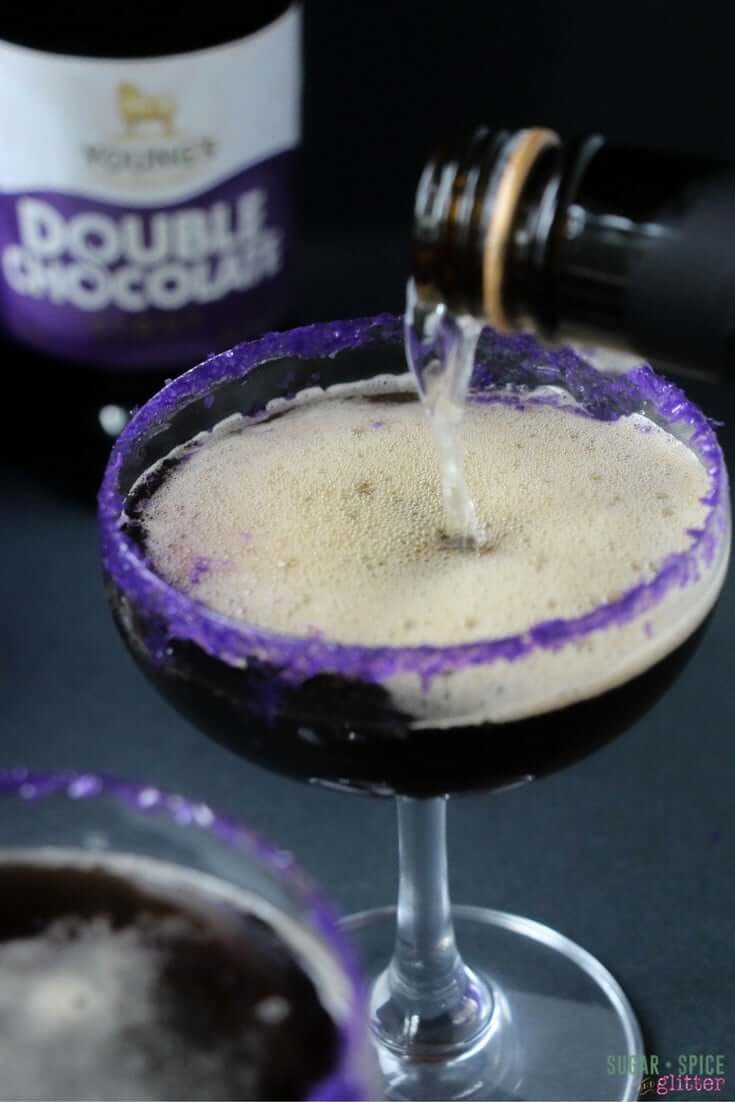 Dark Chocolate Champagne Cocktail
