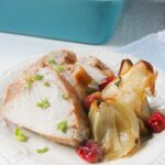 Mesquite Pork Tenderloin with Pears, Cranberries & Onions