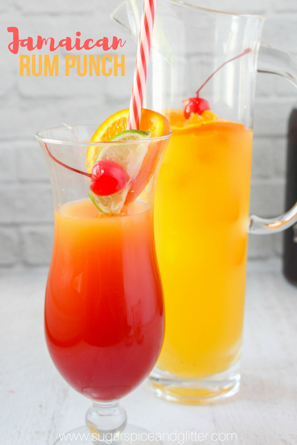 This Jamaican Rum Punch is always a hit at parties and makes a great summer cocktail to wind down after a long, hot day. It's a fruity, citrus-flavored cocktail with bright flavors reminiscent of a Caribbean sunset.
