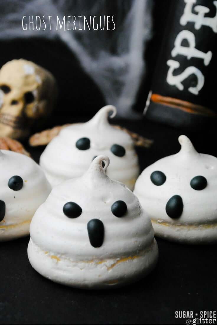 These spooky & sweet ghost meringue cookies are sure to be a scream for Halloween - be sure to grab one before they disappear