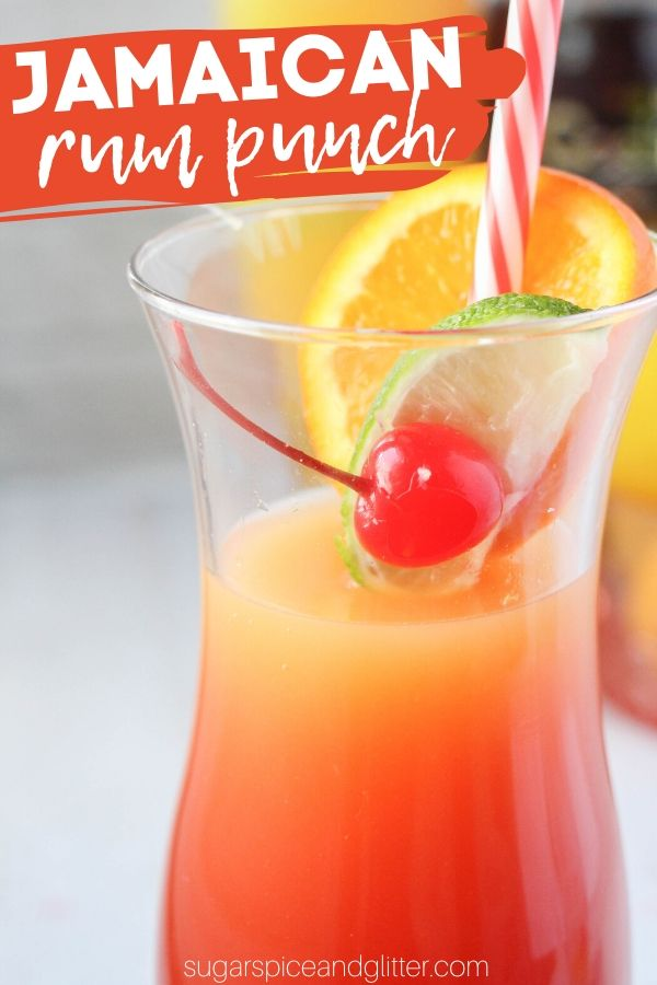 Jamaican Rum Punch With Video Sugar Spice And Glitter