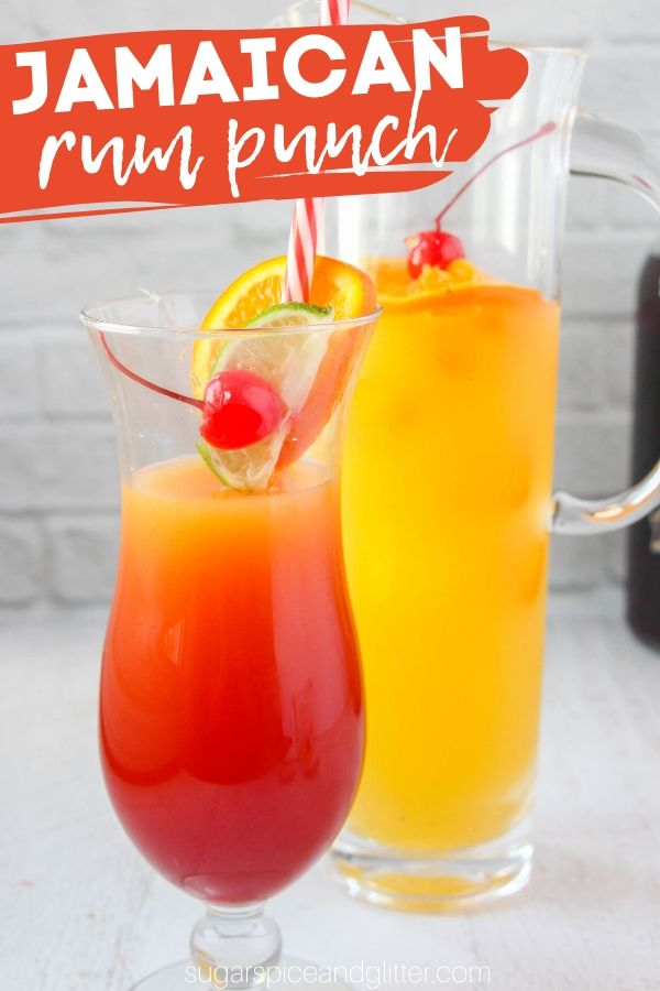 A super easy Jamaican Rum Punch is the perfect summer cocktail when you want something sweet and smooth. Use dark rum or spiced rum for the best flavor, but coconut rum can be used, too!