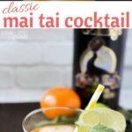Mai Tai Cocktail with Homemade Almond Syrup