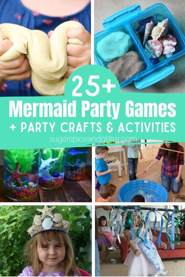All of the mermaid party games, crafts and activities you need to plan the ultimate Mermaid Birthday Party. Whether you're hosting outside or stuck inside, we've got you covered with plenty of water-free fun ideas
