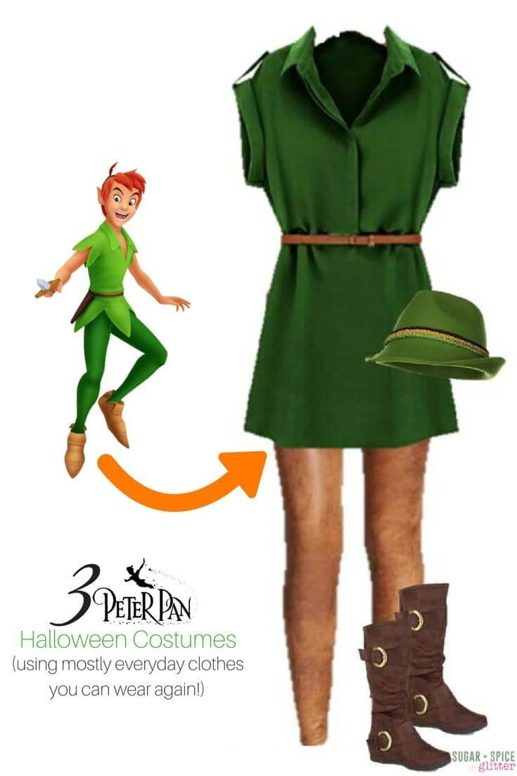 Peter Pan costume for women using everyday clothes - Disneybounding Peter Pan