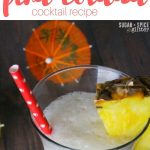 Tropical Pina Colada Cocktail