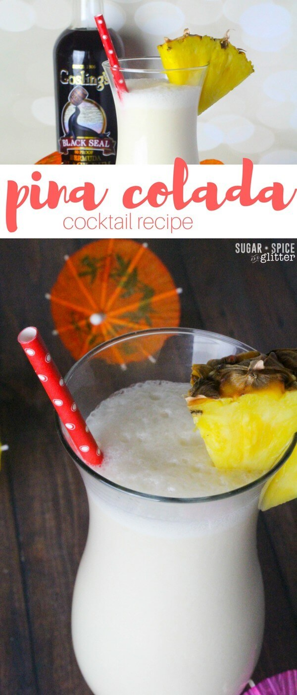How to make a delicious pina colada recipe without that gross grocery store mix. Fresh flavors make this pina colada one of the best summer cocktail recipes you'll ever make