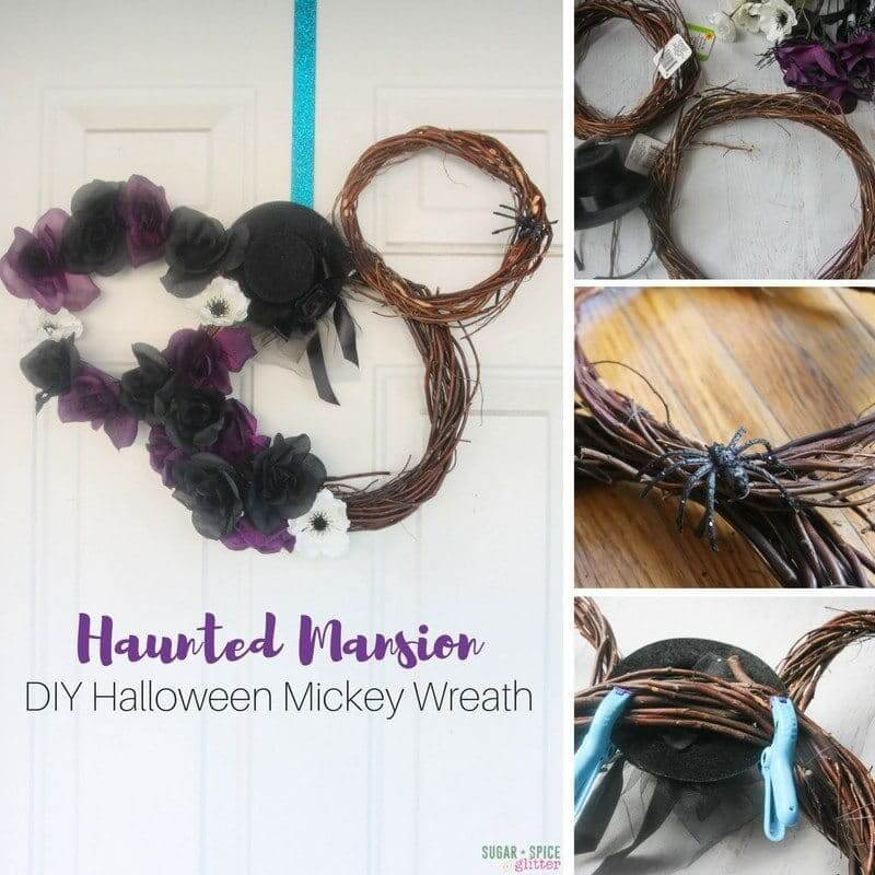 How to make an easy haunted mansion wreath, or customize this DIY Mickey Wreath however you'd like