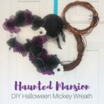 Haunted Mansion DIY Mickey Halloween Wreath