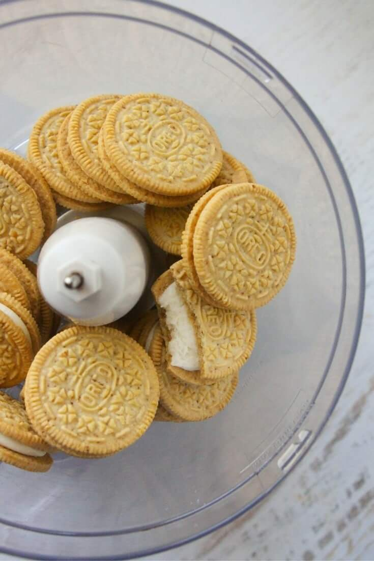 Kids kitchen pumpkin spice cookie recipe using crushed oreo cookies