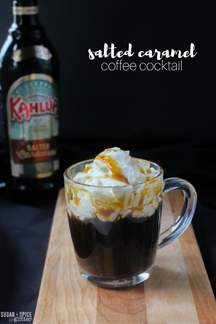 An easy salted caramel coffee cocktail perfect for enjoying with friends or with a delicious book on a cold winter night