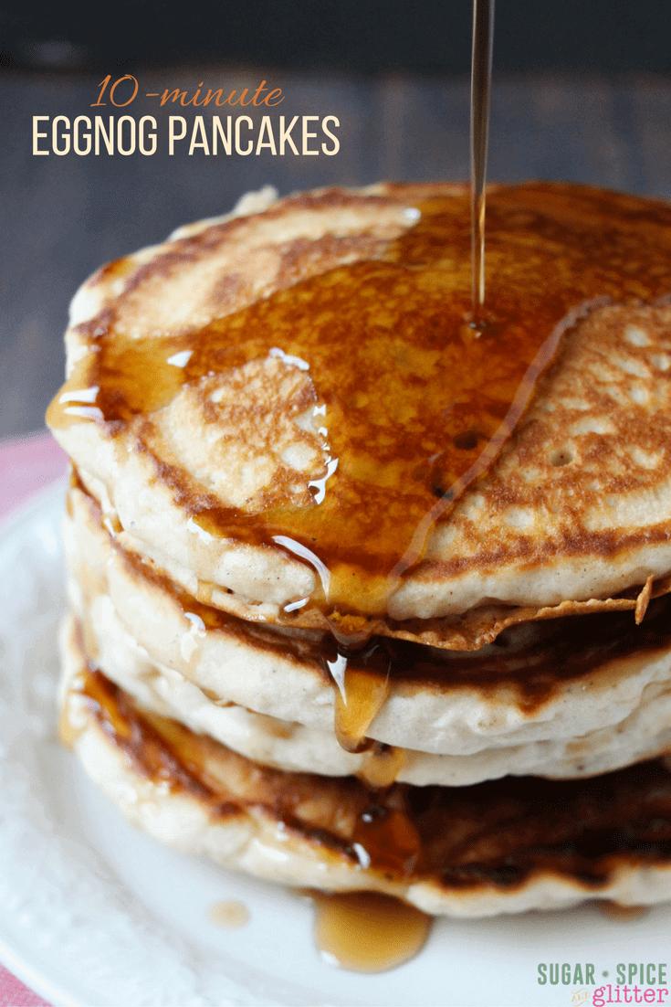 Festive Eggnog Pancakes