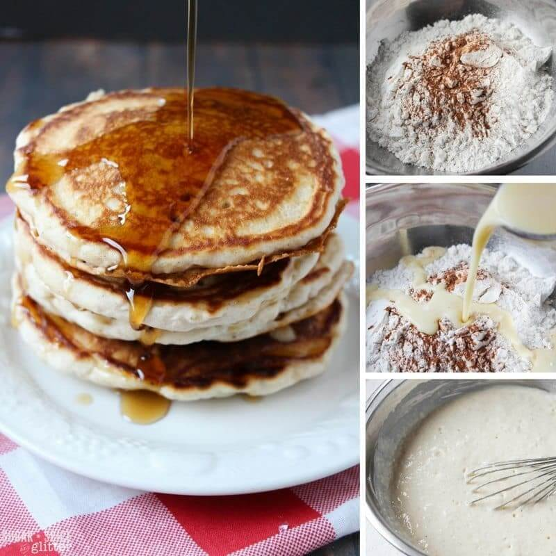 How to make easy eggnog pancakes for a festive holiday breakfast