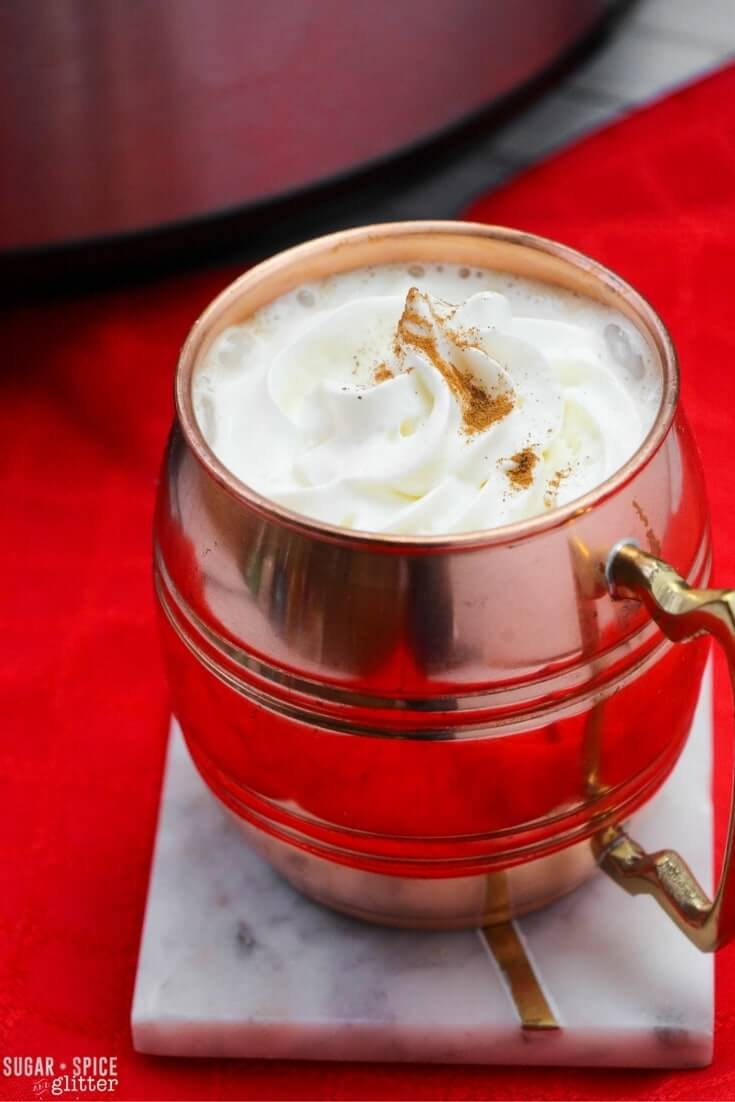 These slow cooker gingerbread lattes are the perfect option for entertaining a group during the holidays - creamy, perfectly spiced strong coffee with minimal effort