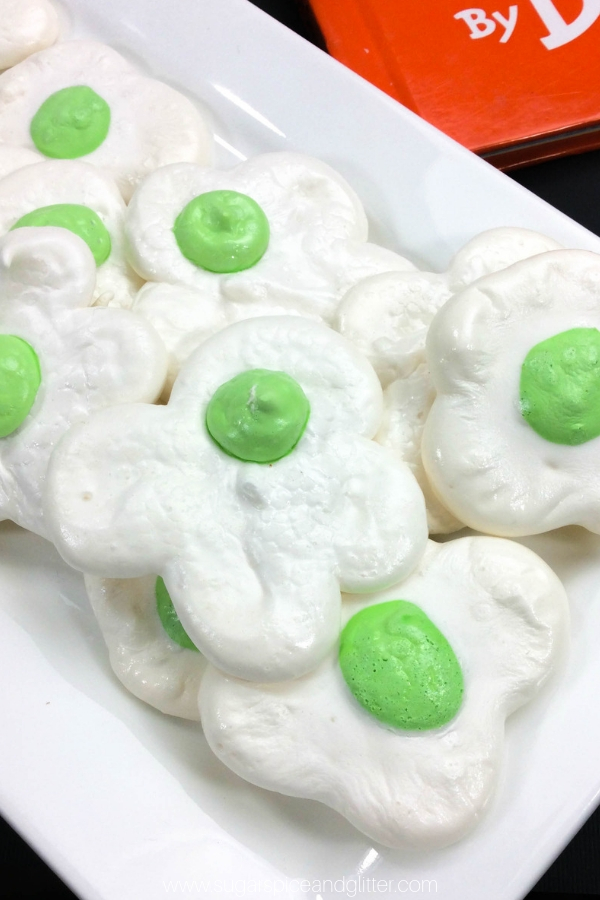 Kids will go crazy for this Green Eggs and Ham cookie recipe! Perfect for a snack after reading his books or a Seuss party food