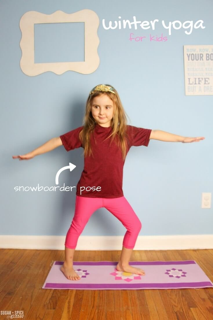 An Easy Kids Yoga Sequence Inspired By Winter