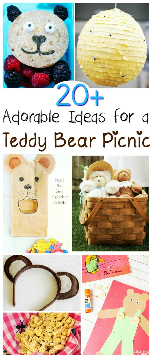 20 Adorable Ideas for planning your own teddy bear picnic, a fun annual tradition that kids will love. The perfect excuse for a summertime picnic
