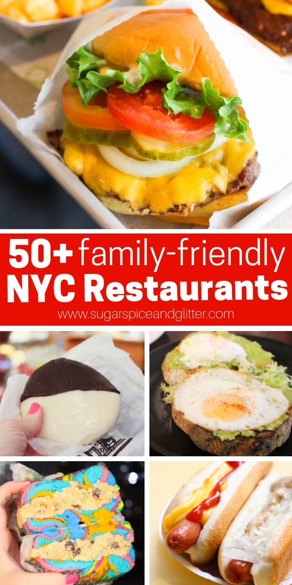 The ultimate NYC restaurant bucket list for families, with breakfast, supper and dessert selections the whole foodie family will love