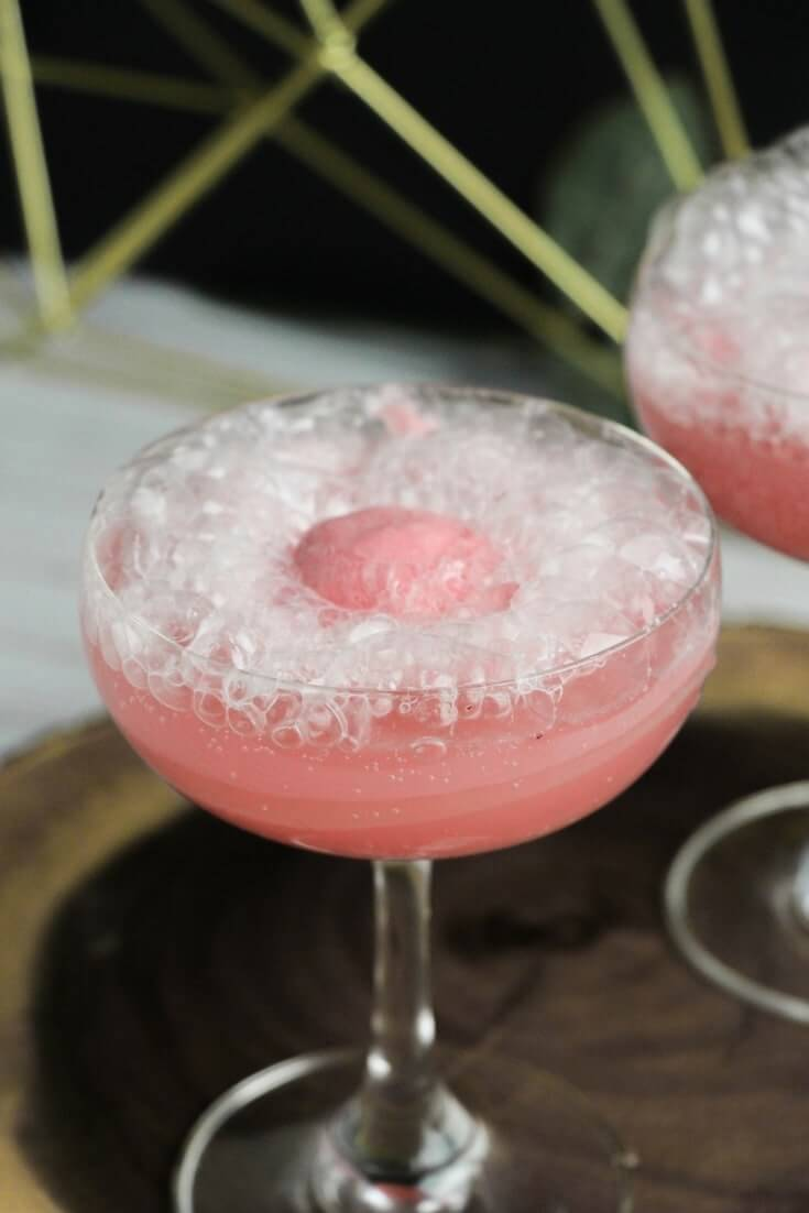 prosecco sorbet float cocktail
