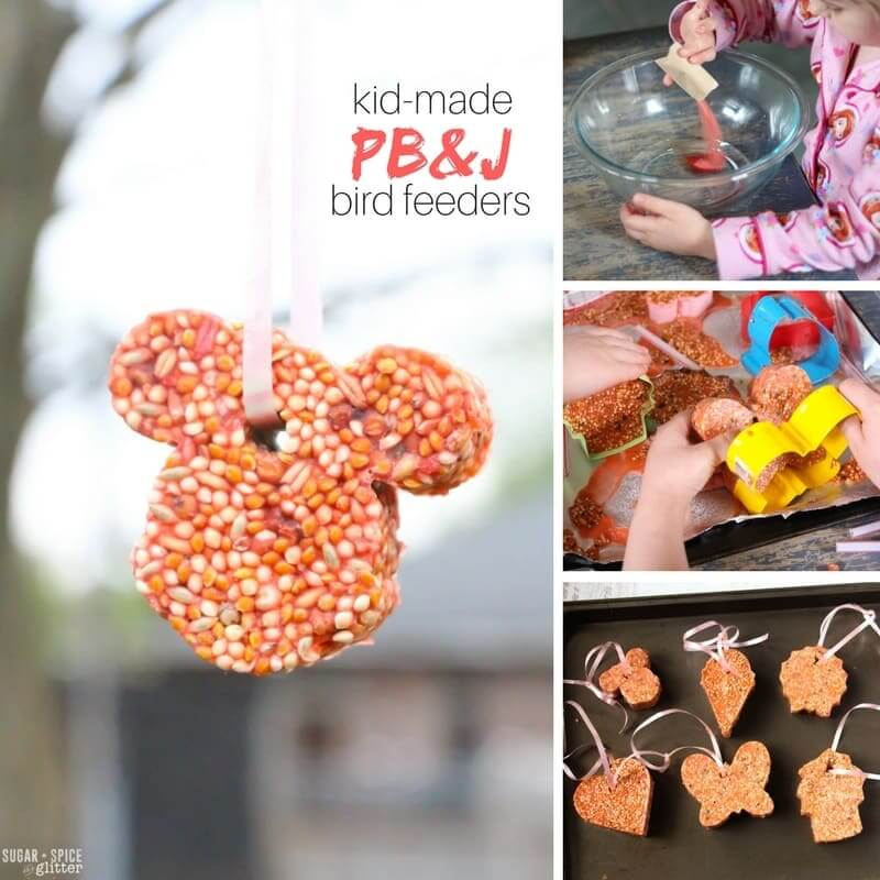 How to make cookie cutter bird seed ornaments with kids