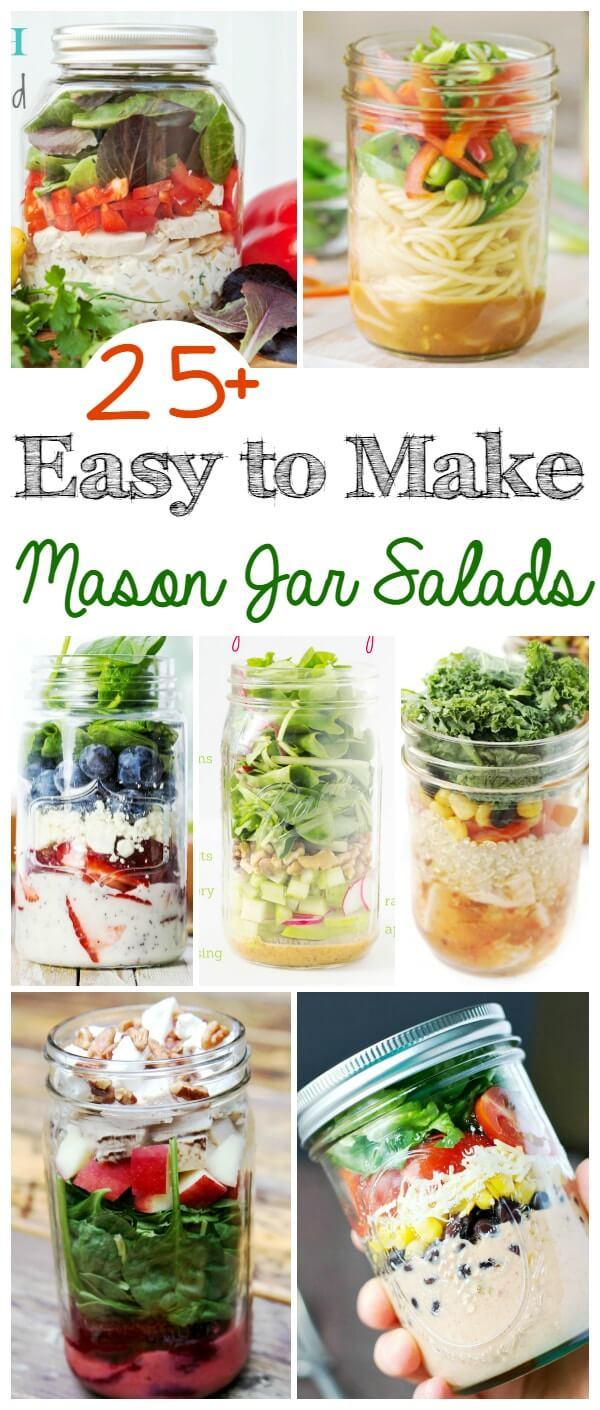 Mason jar salads are an easy and delicious hack for meal prepping salads. A simple way to take healthy eating on the go and get in a ton of vegetable servings at the same time