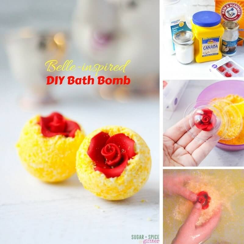 Diy belles bath bombs sugar spice and glitter materials to make belle inspired bath bombs solutioingenieria Choice Image