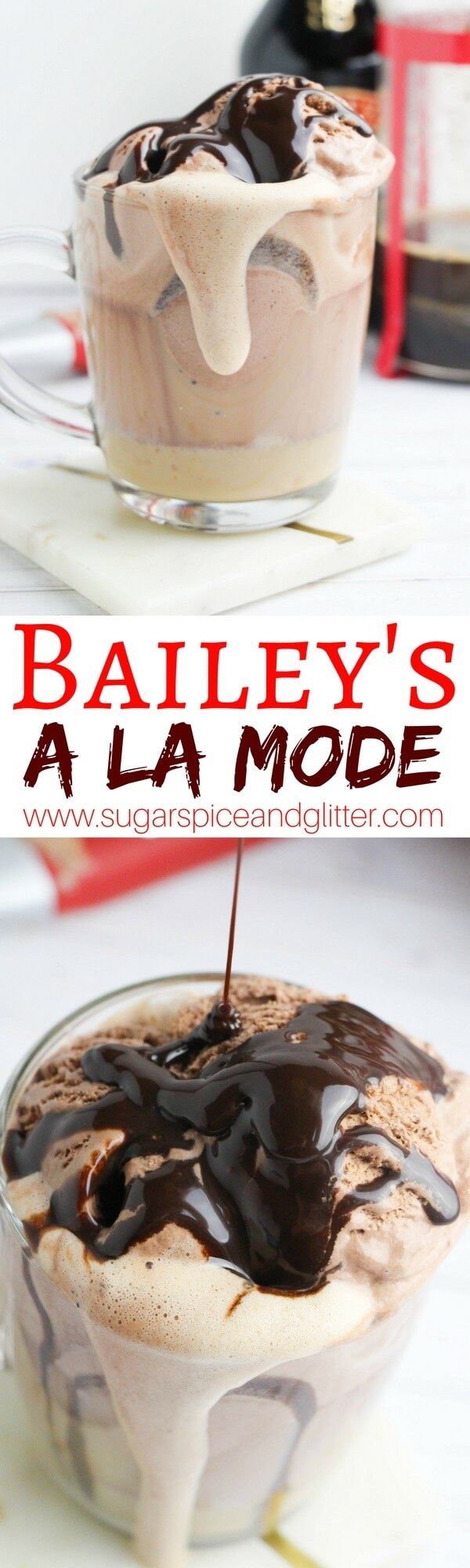Bailey's Coffee a la Mode, for the perfect dessert coffee cocktail your guests will go crazy for!