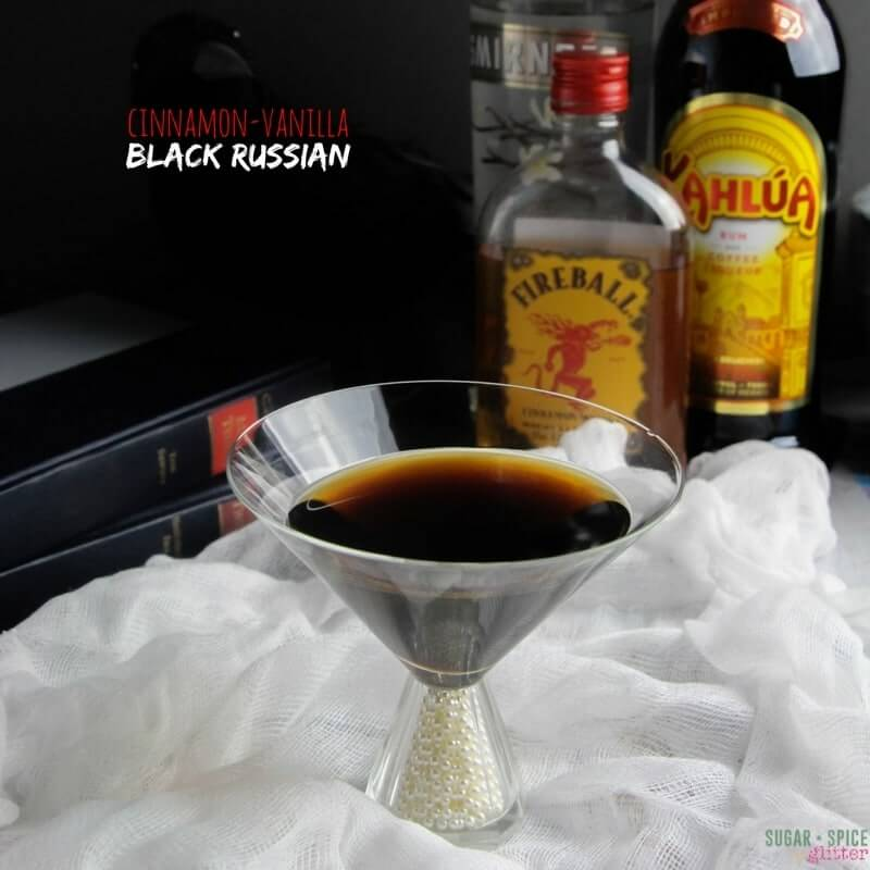 Cinnamon Vanilla Black Russian Cocktail ⋆ Sugar, Spice And
