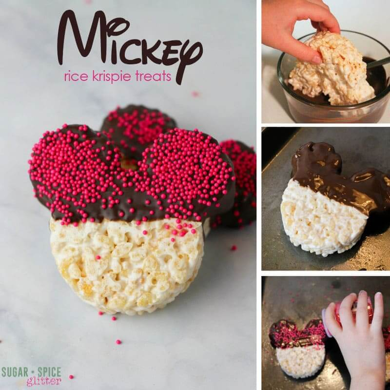 How to make Mickey rice krispie treats for an easy no-bake Disney dessert