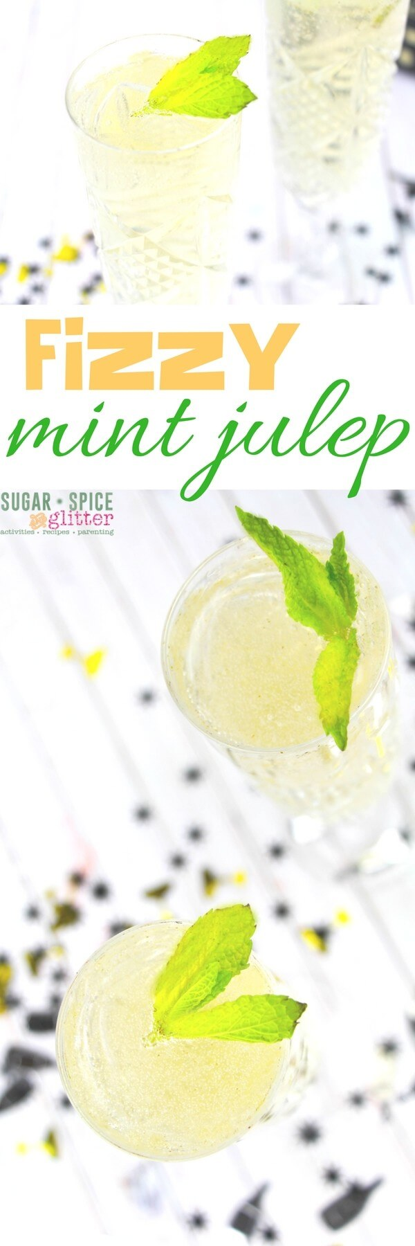 This Fizzy Mint Julep cocktail is a fun, celebratory drink that is smoother than a traditional mint julep but still has all of the flavor. If you're looking for a twist on a champagne cocktail, give this a try.